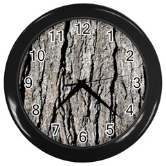 Tree Bark Wall Clocks (black)