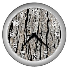 Tree Bark Wall Clocks (silver)