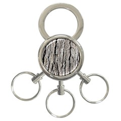 Tree Bark 3 Ring Key Chains