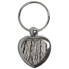 Tree Bark Key Chains (heart)