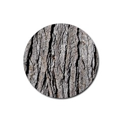 Tree Bark Rubber Round Coaster (4 Pack)