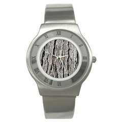 TREE BARK Stainless Steel Watches