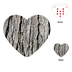 Tree Bark Playing Cards (heart)