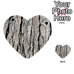 Tree Bark Playing Cards 54 (heart)