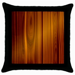Shiny Striated Panel Throw Pillow Cases (black)
