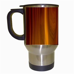 Shiny Striated Panel Travel Mugs (white)