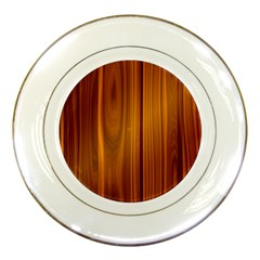 Shiny Striated Panel Porcelain Plates