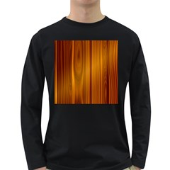 Shiny Striated Panel Long Sleeve Dark T Shirts