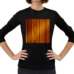 Shiny Striated Panel Women s Long Sleeve Dark T Shirts