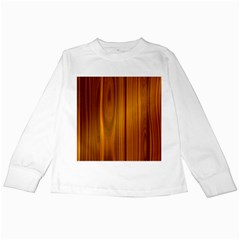 Shiny Striated Panel Kids Long Sleeve T Shirts