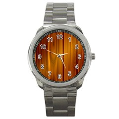 Shiny Striated Panel Sport Metal Watches