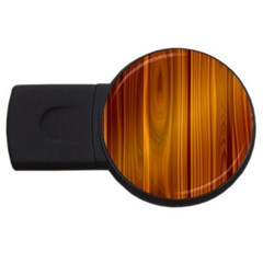 Shiny Striated Panel Usb Flash Drive Round (4 Gb)