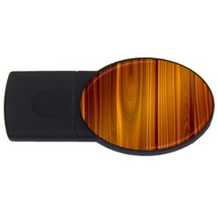 Shiny Striated Panel Usb Flash Drive Oval (4 Gb)