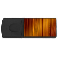Shiny Striated Panel Usb Flash Drive Rectangular (4 Gb)