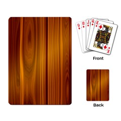 Shiny Striated Panel Playing Card