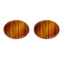 Shiny Striated Panel Cufflinks (oval)
