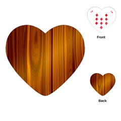 Shiny Striated Panel Playing Cards (heart)