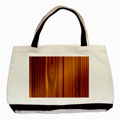 Shiny Striated Panel Basic Tote Bag