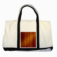 Shiny Striated Panel Two Tone Tote Bag