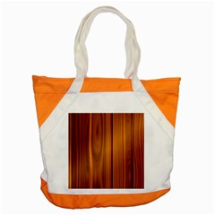 Shiny Striated Panel Accent Tote Bag