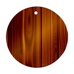 Shiny Striated Panel Round Ornament (two Sides)