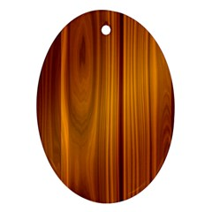 Shiny Striated Panel Oval Ornament (two Sides)