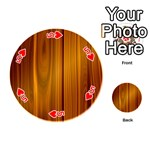 SHINY STRIATED PANEL Playing Cards 54 (Round)  Front - Heart5