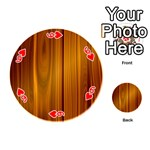 SHINY STRIATED PANEL Playing Cards 54 (Round)  Front - Heart6