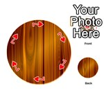 SHINY STRIATED PANEL Playing Cards 54 (Round)  Front - Heart7