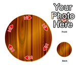 SHINY STRIATED PANEL Playing Cards 54 (Round)  Front - HeartK