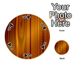 SHINY STRIATED PANEL Playing Cards 54 (Round)  Front - Club6