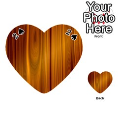 Shiny Striated Panel Playing Cards 54 (heart)