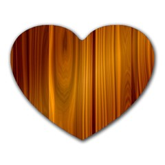 Shiny Striated Panel Heart Mousepads
