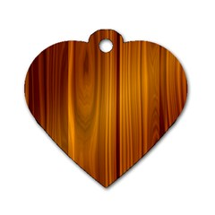 Shiny Striated Panel Dog Tag Heart (one Side)