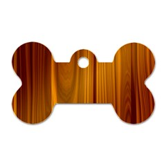 Shiny Striated Panel Dog Tag Bone (two Sides)