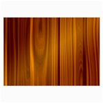 SHINY STRIATED PANEL Large Glasses Cloth Front