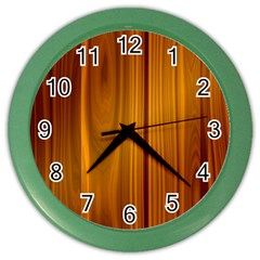 Shiny Striated Panel Color Wall Clocks