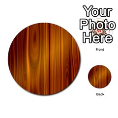 Shiny Striated Panel Multi Purpose Cards (round)