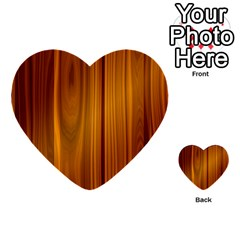 Shiny Striated Panel Multi Purpose Cards (heart)