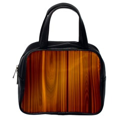Shiny Striated Panel Classic Handbags (one Side)