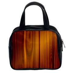 Shiny Striated Panel Classic Handbags (2 Sides)