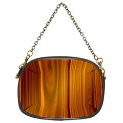 Shiny Striated Panel Chain Purses (one Side)