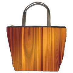 Shiny Striated Panel Bucket Bags