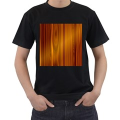 Shiny Striated Panel Men s T Shirt (black)