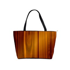 Shiny Striated Panel Shoulder Handbags