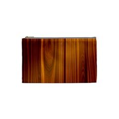 Shiny Striated Panel Cosmetic Bag (small)