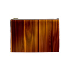 Shiny Striated Panel Cosmetic Bag (medium)