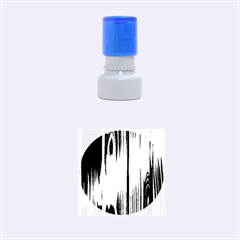 SHINY STRIATED PANEL Rubber Round Stamps (Small)
