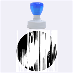 SHINY STRIATED PANEL Rubber Round Stamps (Large)