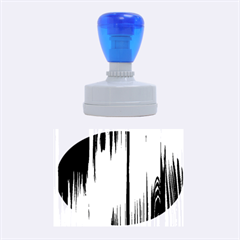 Shiny Striated Panel Rubber Oval Stamps